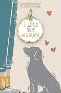 """I Love My Human"" enamel collar charm"