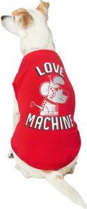 """Love Machine"" print valentine dog t-shirt"
