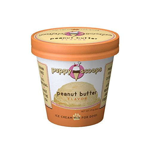 Puppy Scoops peanut butter flavored ice cream mix for dogs