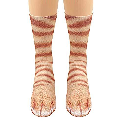 orange cat feet socks