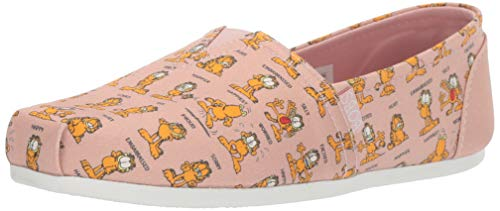 Garfield print canvas slip-on shoes