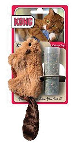 Kong plush refillable catnip beaver toy