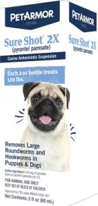 PetArmor Sure Shot 2x Liquid Dewormer for Dogs