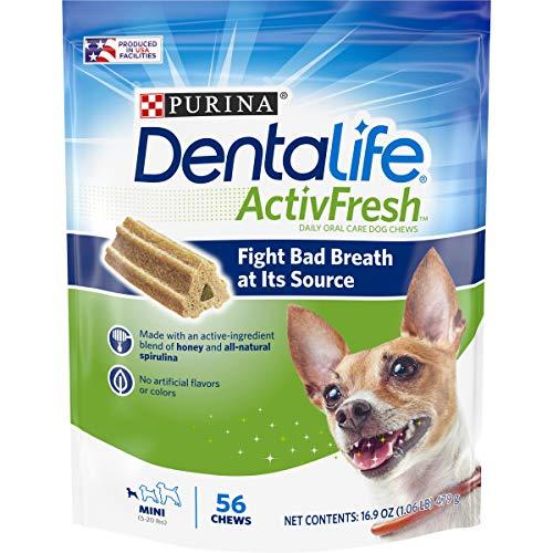 Purina Dentalife chews for dog dental hygiene