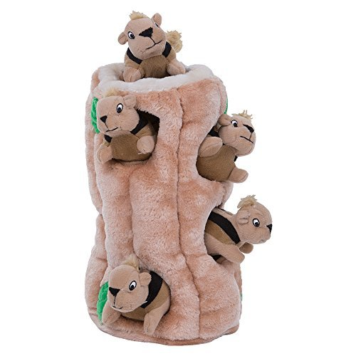 Outward Hound Hide-a-Squirrel plush puzzle dog toy