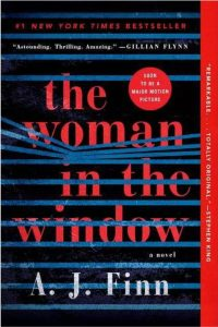 """""""The Woman in the Window"""" crime novel cat book"""
