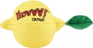 Yeowww! lemon-shaped catnip toy for cats