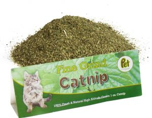 mound of finely ground catnip for cats