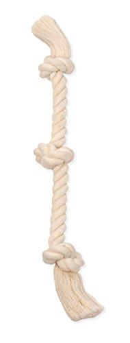white dog rope toy