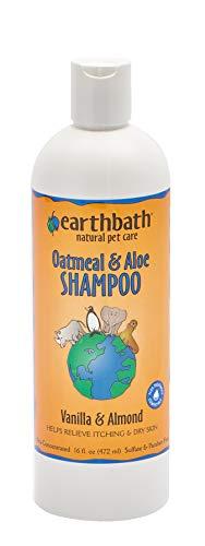Bottle of Earthbath oatmeal and aloe shampoo