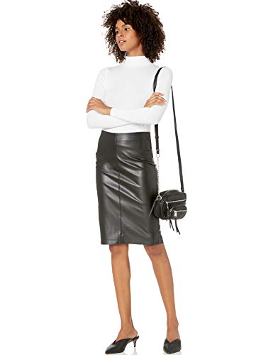 The Drop faux leather skirt