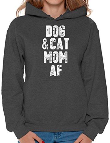 """Dog & Cat Mom AF"" hoodie"