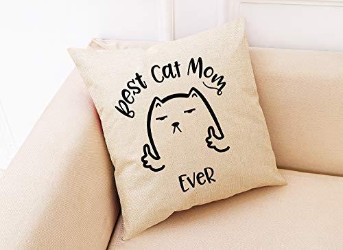 """""""Best Cat Mom Ever"""" throw pillow"""