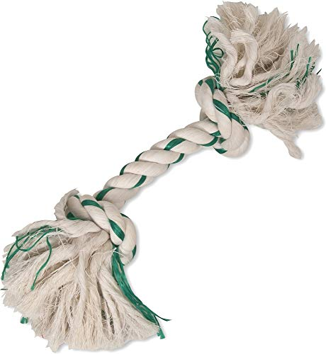 booda green and white dog rope toy
