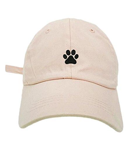 dog paw print baseball hat