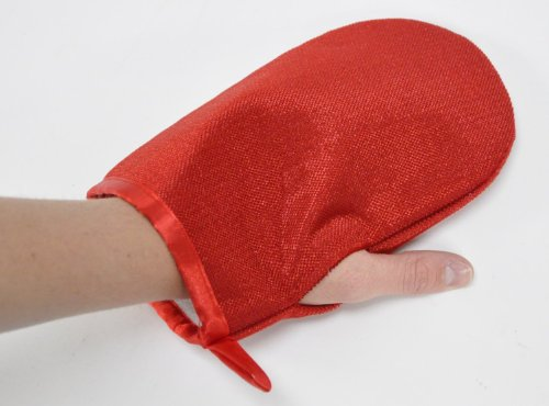Red Pick-It-Up Mitt for pet hair cleaning