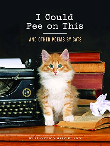 """""""I Could Pee on This"""" book with cat on desk"""