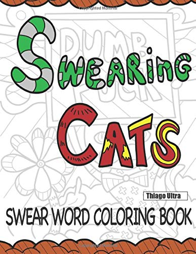 """""""Swearing Cats"""" coloring book"""