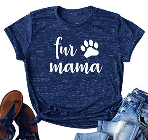 """""""Fur Mama"""" Navy T-Shirt"""