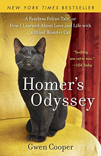 """""""Homer's Odyssey"""" book with blind black cat on cover"""