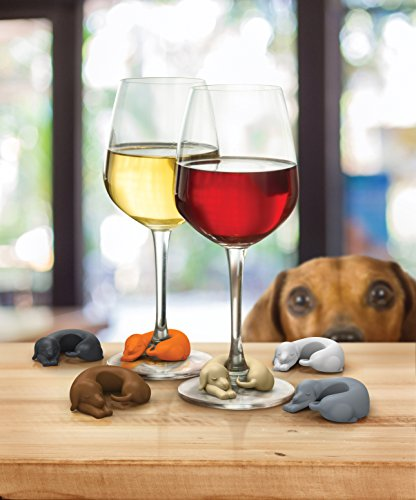 Winer Dogs dachshund glass markers