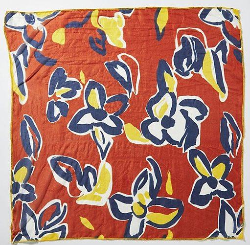 floral silk bandanna