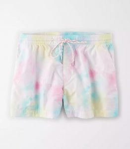 tie-dye pastel AE high-waisted sport shorts