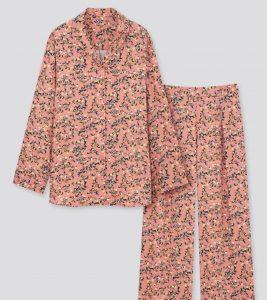Uniqlo rayon long-sleeve dog mom pajama set