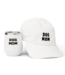 Dog Mom hat and insulated tumbler set