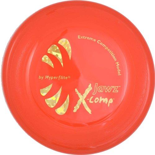 red Jaws hard dog Frisbee