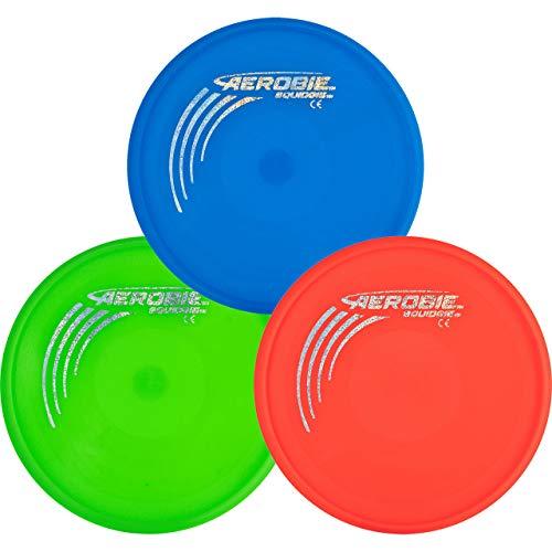 three Aerobie flying discs