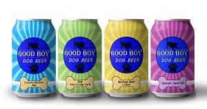 Good Boy four-pack of dog beer