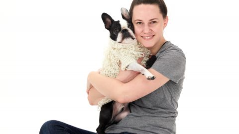 Amber with her dog Gus