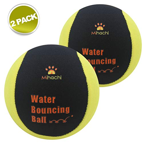 two-pack of Mihachi bouncing balls for dog pools and water