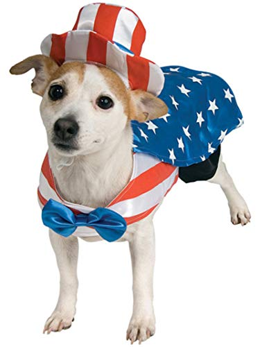 pup wearing Rubie's Uncle Sam 4th of July dog clothing
