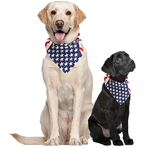 American flag bandana 4th of July dog clothing