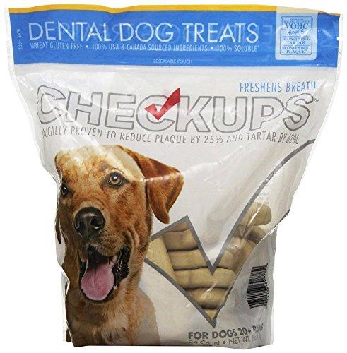 Checkups dog treats for oral hygiene