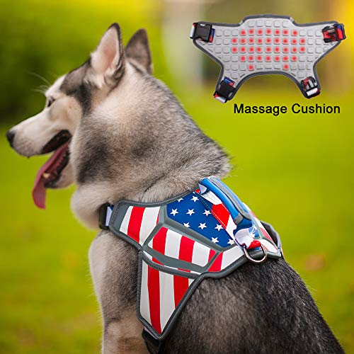 Weetall American flag 4th of July dog harness