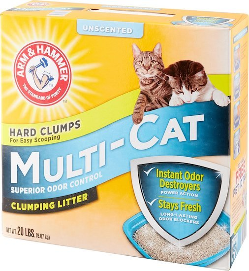 Arm and Hammer unscented litter for multiple cats