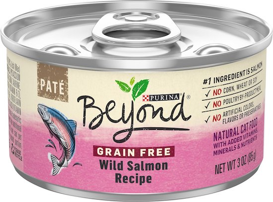 can of Purina Beyond brand canned cat food