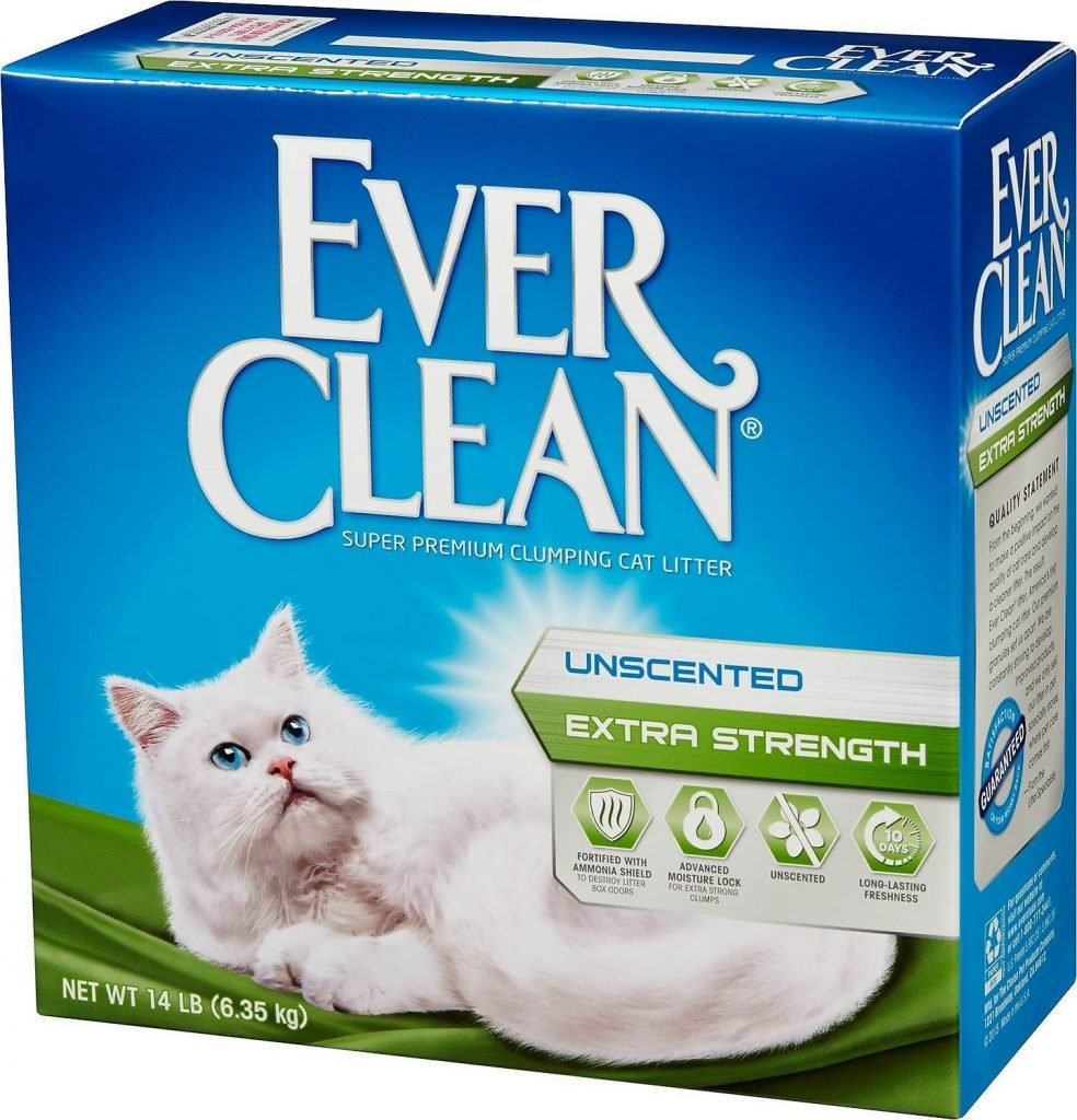 box of Ever Clean litter