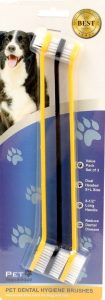 Pet Republique dual-ended toothbrushes, three-pack