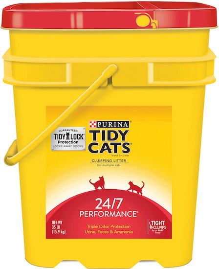container of Tidy Cat litter
