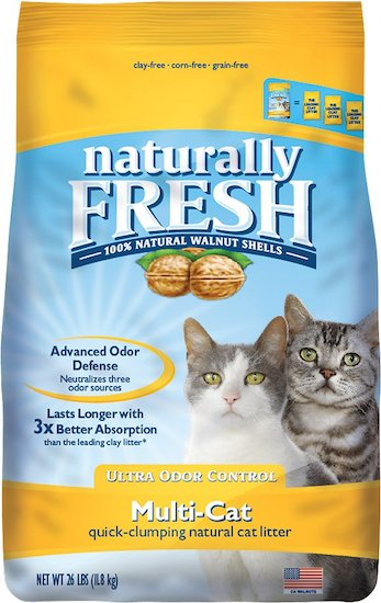Naturally Fresh brand walnut-shell litter