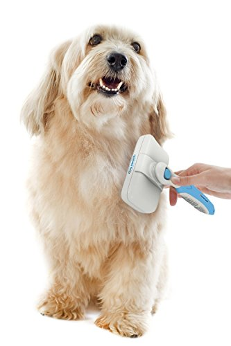 Pet Portal self-cleaning slicker brush for dog grooming on the go