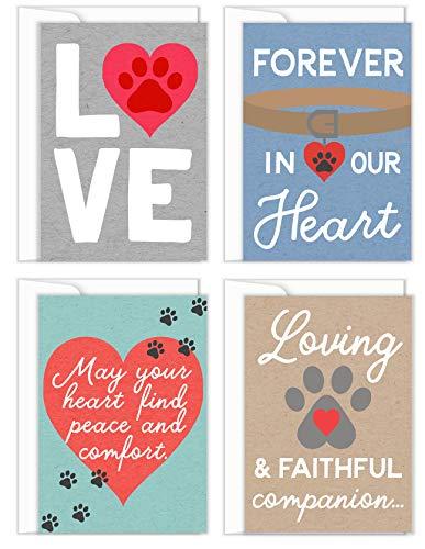 Tiny Expressions four pet sympathy cards
