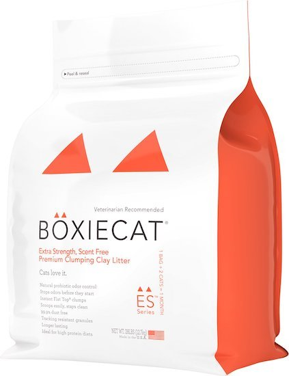 bag of Boxiecat clumping litter
