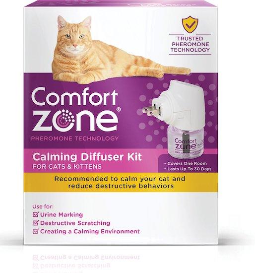 Comfort Zone cat calming pheromones diffuser kit