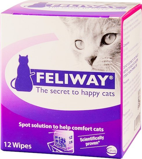 Feliway cat calming pheromone travel wipes