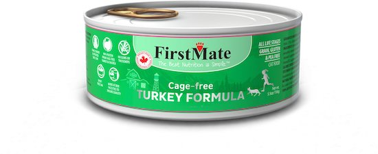 First Mate turkey LID food for cats with allergies